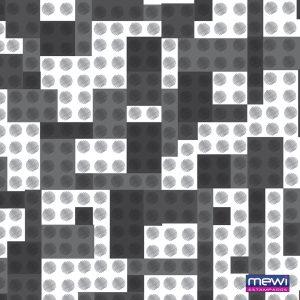 6054 - LEGO_com pinos preto branco