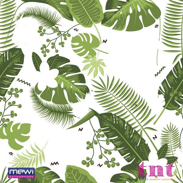 Estampa Folhagem Verde Tropical