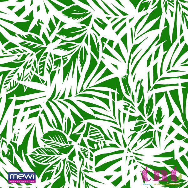 Estampa de Folhagem Bambu